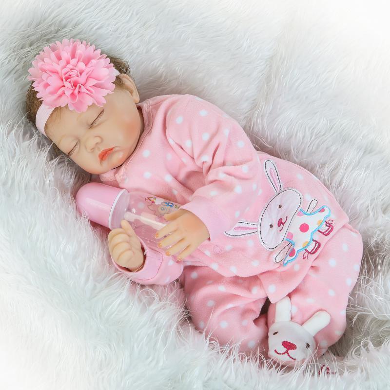 22 Handmade Lifelike Baby Girl Doll Silicone Vinyl Reborn -2965