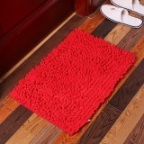 KCASA KC-334 40x60cm Chenille Rough Thick Hair Soft Mat Machine Washable Bathroom Anti Slip Absorbent Carpet Door Mat