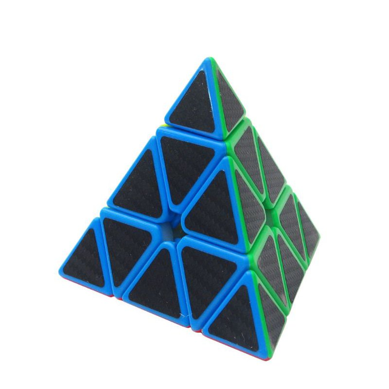 5Pcs Per Box Carbon Fibre Magic Cube Pyraminx Dodecahedron Axis Cube 2x2 A NEW