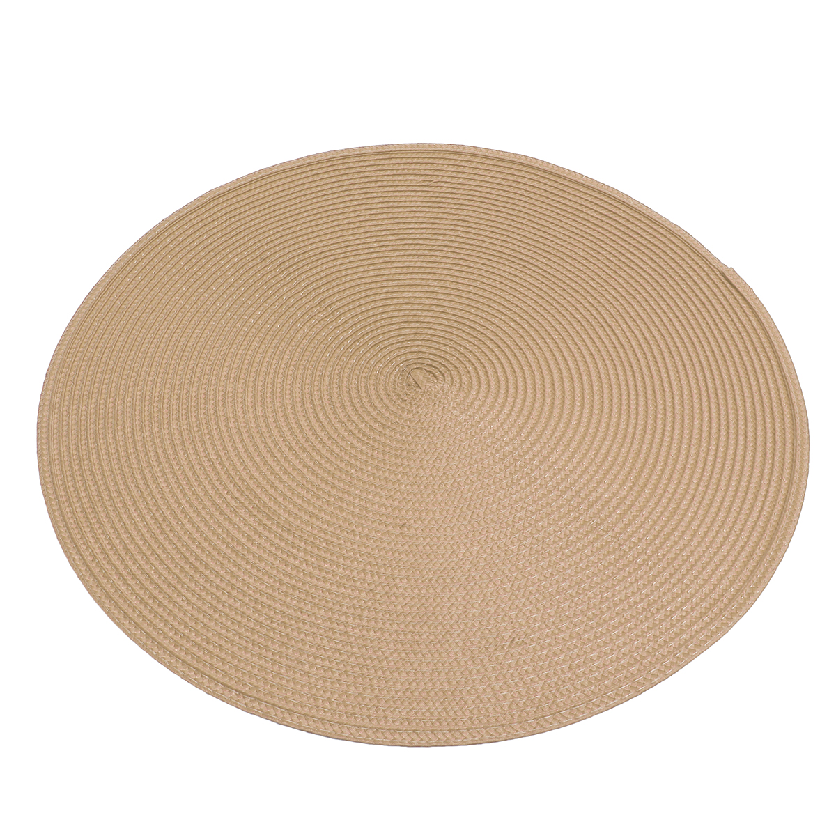 Round Jacquard Woven Non Slip Placemats Kitchen Dining Table Mat Heat Resistant 6 Colors