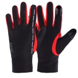 Mens Anti-Skid Fleece Outdoor Cycling Gloves Winter Warm Full Finger Windproof Mittens