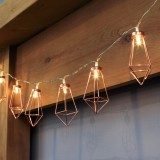 Battery Powered 1.8M/3.3M 10/20LEDs Metal Diamond Fairy String Light for Christmas Holiday Party