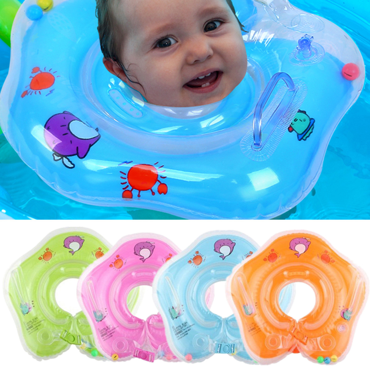 IPRee™ Baby Infant Swimming Pool Bath Neck Floating Inflatable Ring ...