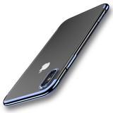 Cafele Plating Glitter Transparent Soft TPU Case For iPhone X