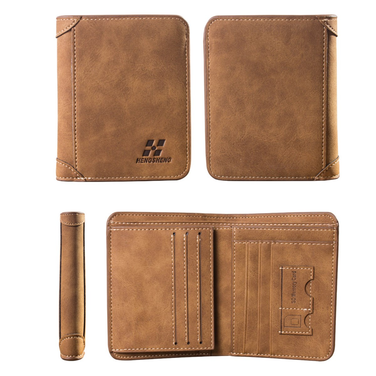 Vintage Men/'s PU Leather Credit Card Holder ID RFID Blocking Trifold Wallet nEW