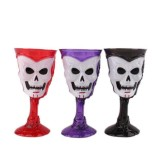 Goblet Plastic Skull Cup Bar KTV Party Cocktails Beer Wine LED Luminous Cup Drinkware Halloween Gift