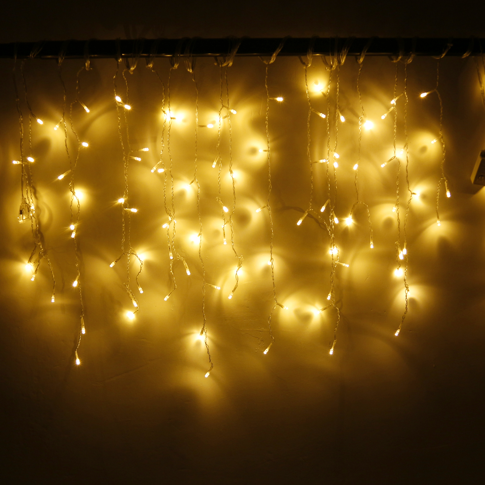 Christmas 4m 96 Led Curtain Icicle String Lights 220v