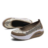 Mesh Rocker Sole Shoes Health Shoes Slip On Athletic Casual Round Toe Sport