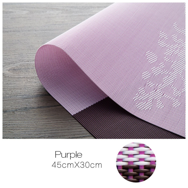 KCASA Placemat Fashion Pvc Dining Table Mat Disc Pads Bowl Pad Coasters Waterproof Table Cloth Pad Slip-Resistant Pad