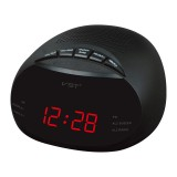 EU Led Digital Radio Alarm Clock With Blue Red Green Backlight Two Groups Alarm Clock AM FM Clock Radio Table Clock Radio