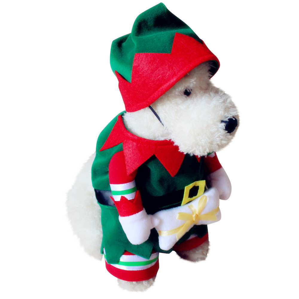 Pet dog and cat christmas suit santa claus dressing up