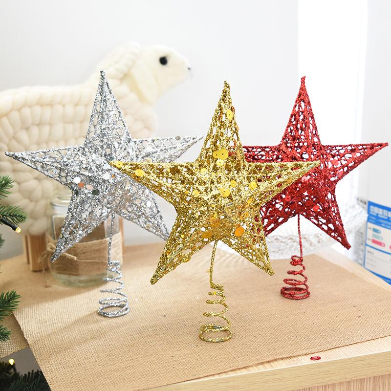 Christmas Tree Topper Star Plastic Christmas Star Tree ...