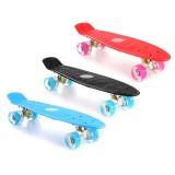 "22"" LED Light Up Fish Skateboard 4 PU Wheel Single Warping Board Teenagers Kids Skateboard"