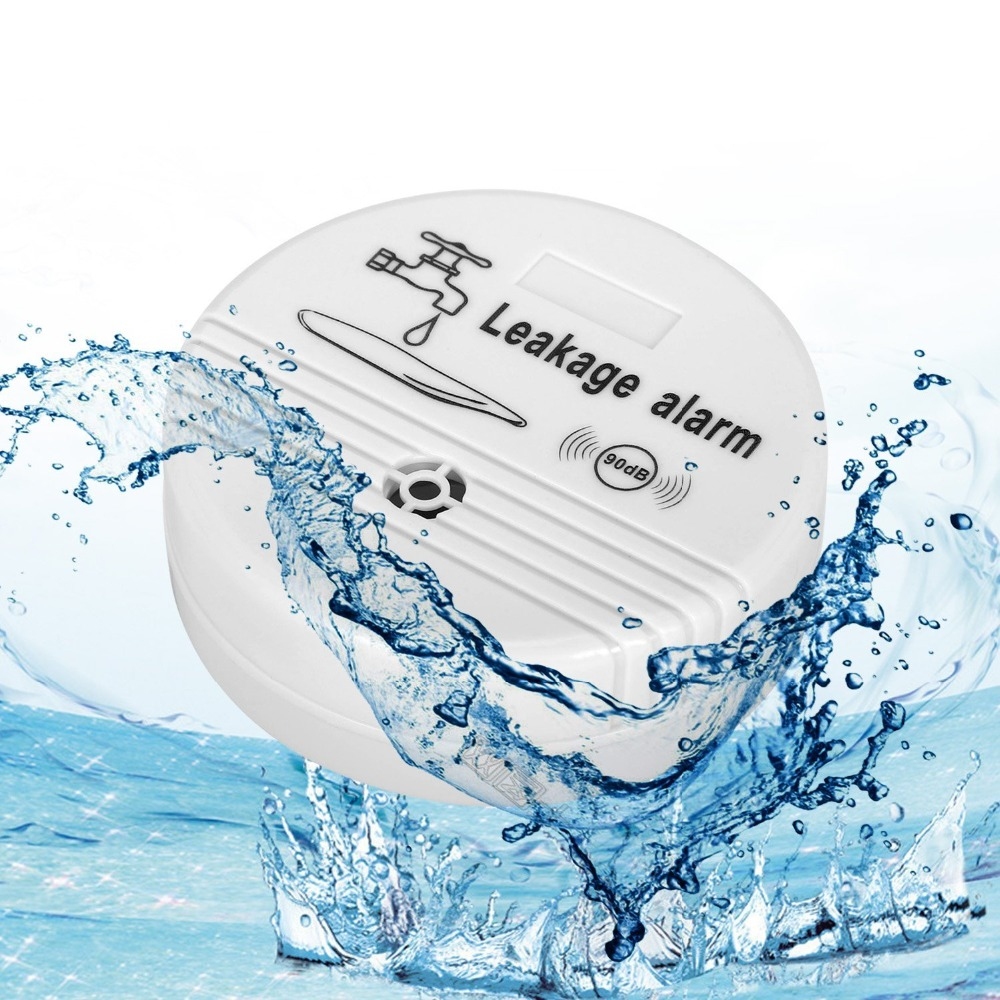 Water Leakage Detector ABS Wireless Water Leak Detector Water Sensor Alarm Leak Alarm Home Security Monitor