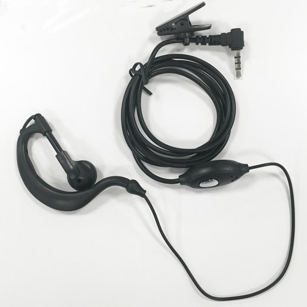 1 walkie talkie headset earphone line single y head for. Black Bedroom Furniture Sets. Home Design Ideas