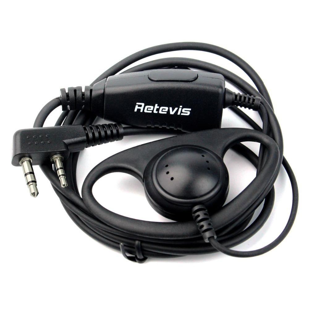 Retevis D Shape Soft Ear Hook Earpiece 2pin Ptt Mic Headset For Kenwood Radio Wiring Diagram Baofeng Uv