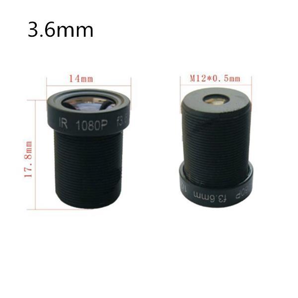 2.8mm/3.6mm/6mm/8mm M12 1080P IR Sensitive HD FPV Camera Lens