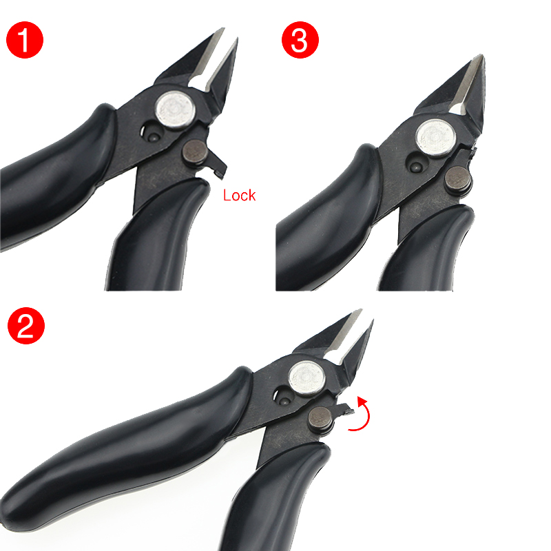Mini Pliers Hand Tools Diagonal Side Cutting Pliers Stripping Pliers Electrical Wire Cable Cutters Snips Flush Nipper