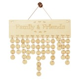 Wooden Anniversary Calendar Board DIY Family Friends Birthday Calendar Sign Special Dates Planner Board Hanging For Home Decor Gift