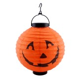 Halloween LED Paper Lantern Pumpkin Spider Bat Lights Hanging Lamp Props Decoration Party Supplies