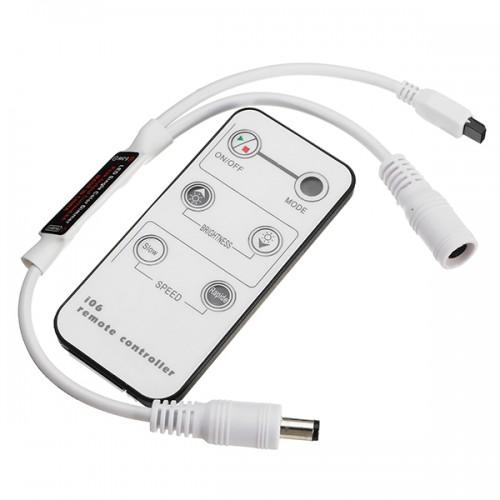 DC5V-24V 6 Keys Mini Remote Control IR Dimmer for 5050 3528 3014 5630 Single Color LED Strip Light