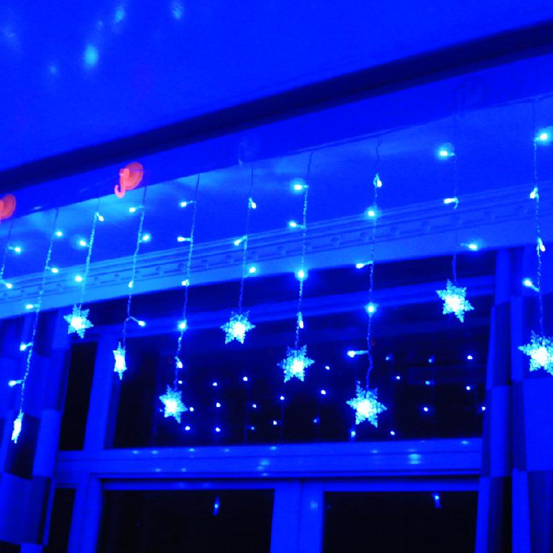 3 8m Led Curtain Snowflake String Lights Led Fairy Lights