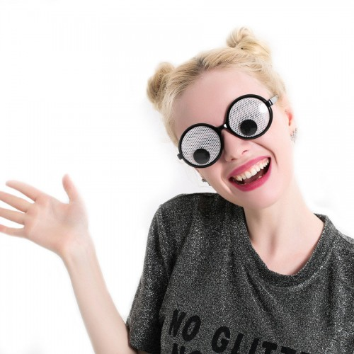 Funny Googly Eyes Goggles Shaking Eyes Party Glasses and Toys for Party Cosplay Costume Christmas Halloween Party Decoration
