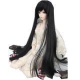 BJD Doll Wig 8-9″ 22-24cm 1/3 BJD SD Long Straight Hair Black Toy Costume Wig