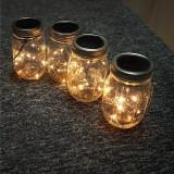 Solar Powered 1M 10LEDs Mason Jar Lid Insert Fairy String Light for Garden Christmas Party