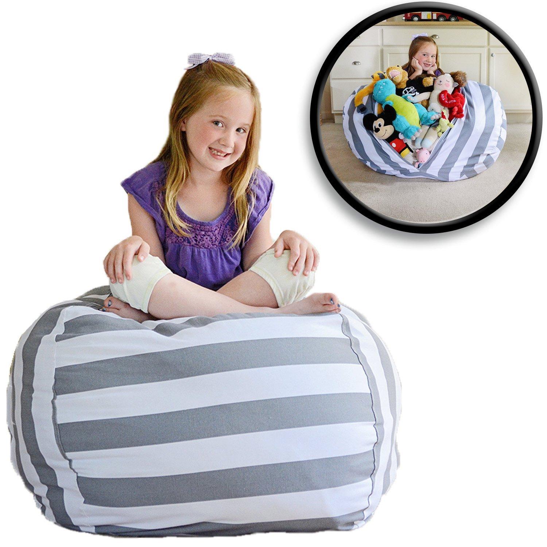 Honana Large Capacity Stuffed Animal Storage Bean Bag
