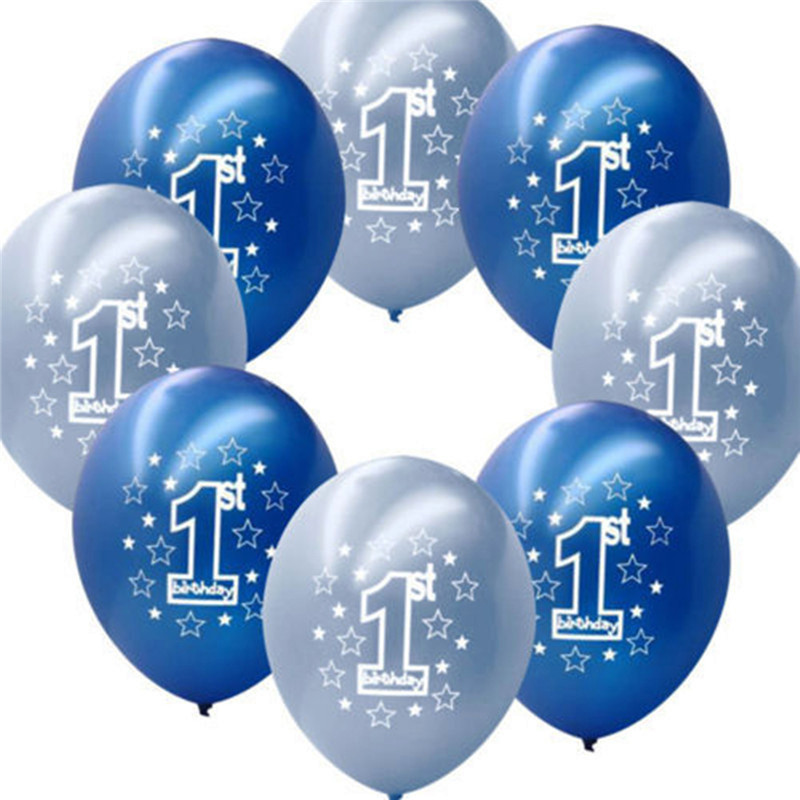 10 pcs per set blue boy s 1st birthday printed inflatable for Water balloon christmas decorations