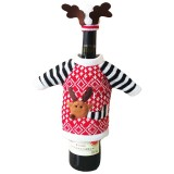 Christmas Wine Bottle Cover Christmas Decoration for Home Christmas Deer Elk Red Wine Champagne Bottle Covers Bag Ornament