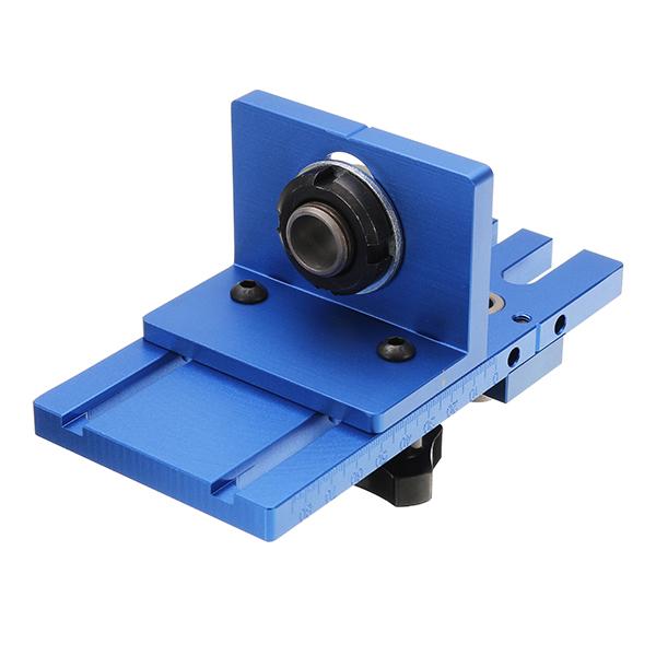 08450 Aluminum Alloy Dowelling Jig Set Wood Dowel Drilling Position Jig Woodworking Tool