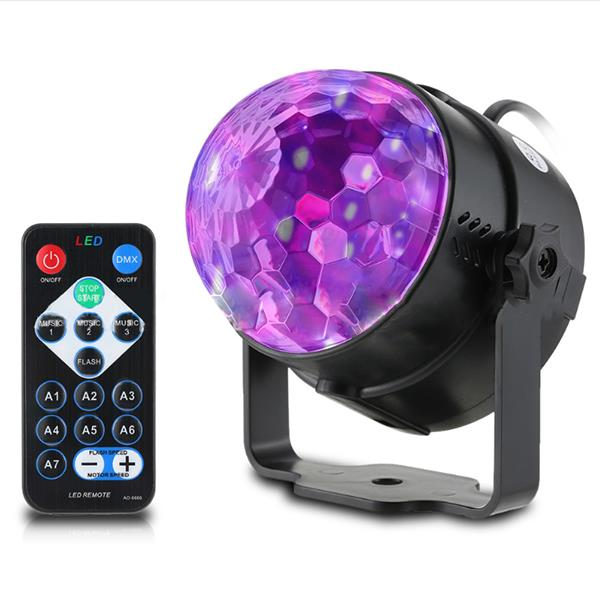 3w remotevoice control stage light 3 uv led magic ball for halloween christmas