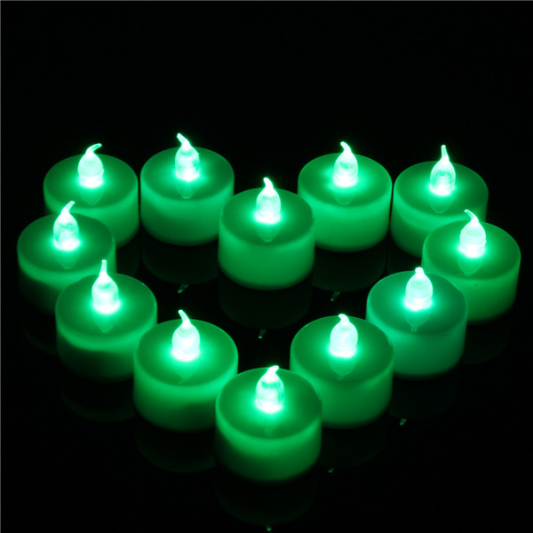 12 Pcs Battery Operated LED Flameless Candles Tea Light Party Wedding Christmas Decor