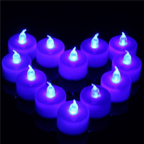 12 pcs battery operated led flameless candles tea light party wedding christmas decor - Christmas Decorations Battery Operated Candles