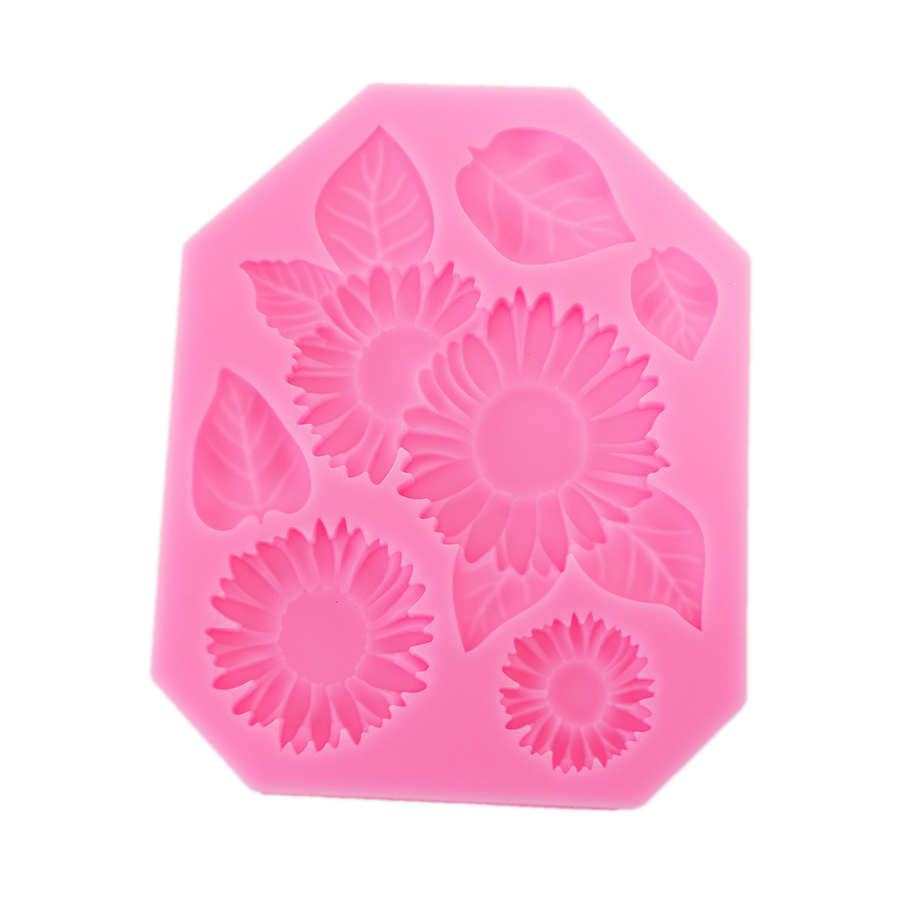 Food Grade Silicone Cake Mold DIY Chocalate Cookies Ice Tray Baking Tool Flowers And Leaves Shape