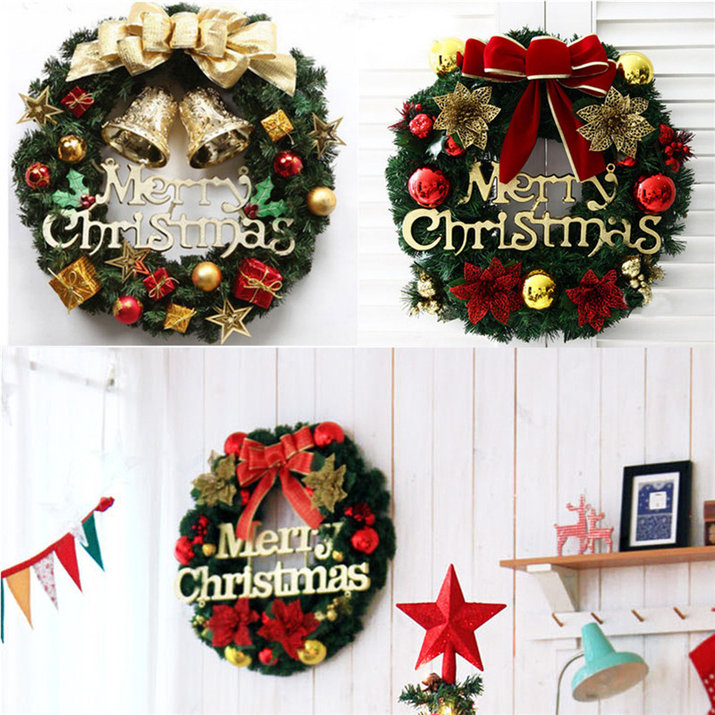Christmas holiday wreath door ornament garland decoration