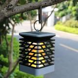 Solar Powered 75 LED Flame Effect Hanging Lantern Light Outdoor Waterproof Garden Lawn Tree Decor