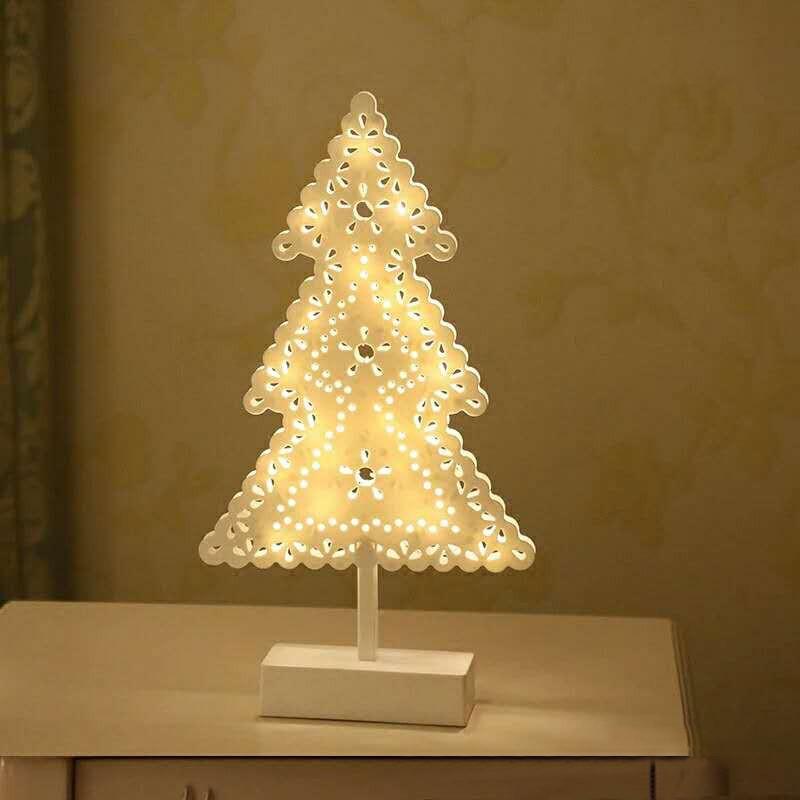 Christmas Led Wooden Table Mini Night Light Desk Lamp