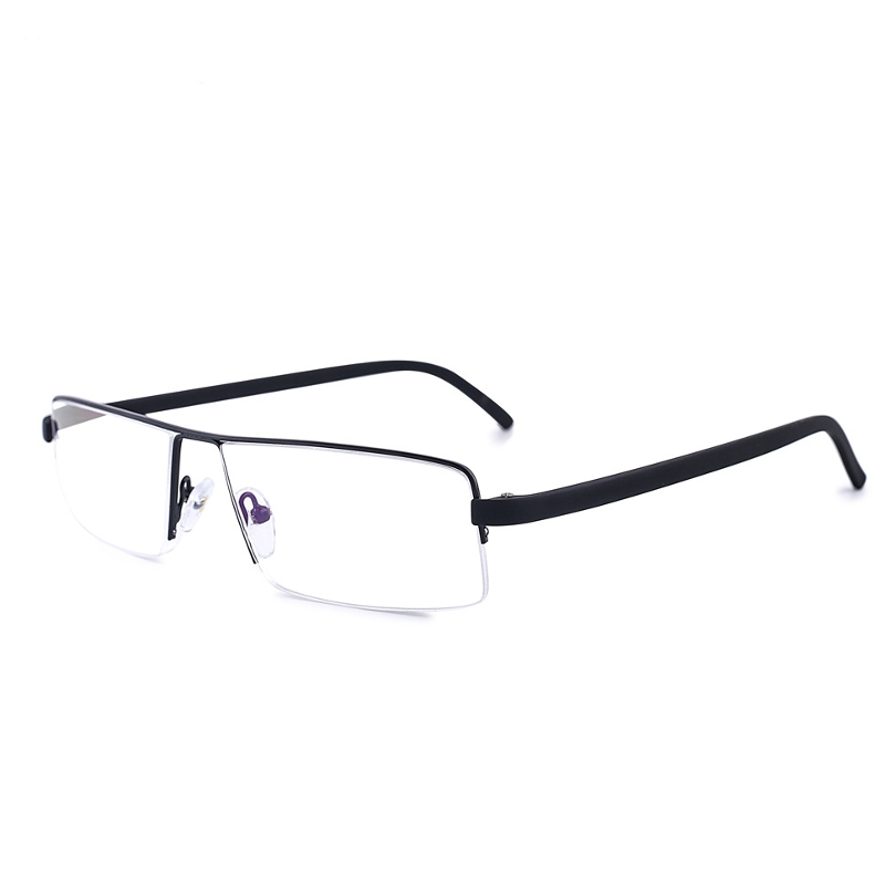 SHUAIDI Anti-fatigue Semi Rimless Frame Reading Glasses Resin Alloy ...