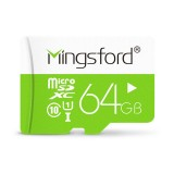 Mingsford Colorful Edition 64GB Class 10 Micro SD TF Memory Card