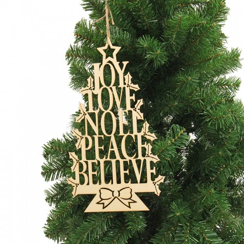 Christmas Party Home Decoration English Alphabet Tree Hanging Ornament Toys For Kids Children