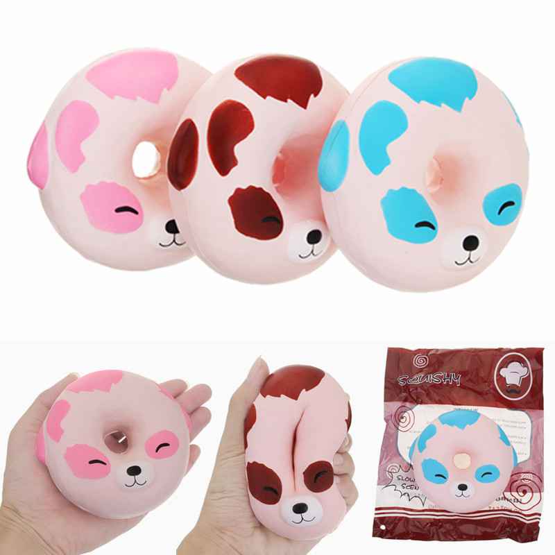 Donut Squishy Collection : YunXin Squishy Puppy Dog Donut 10cm Scented Soft Slow Rising With Packaging Collection Gift Toy ...