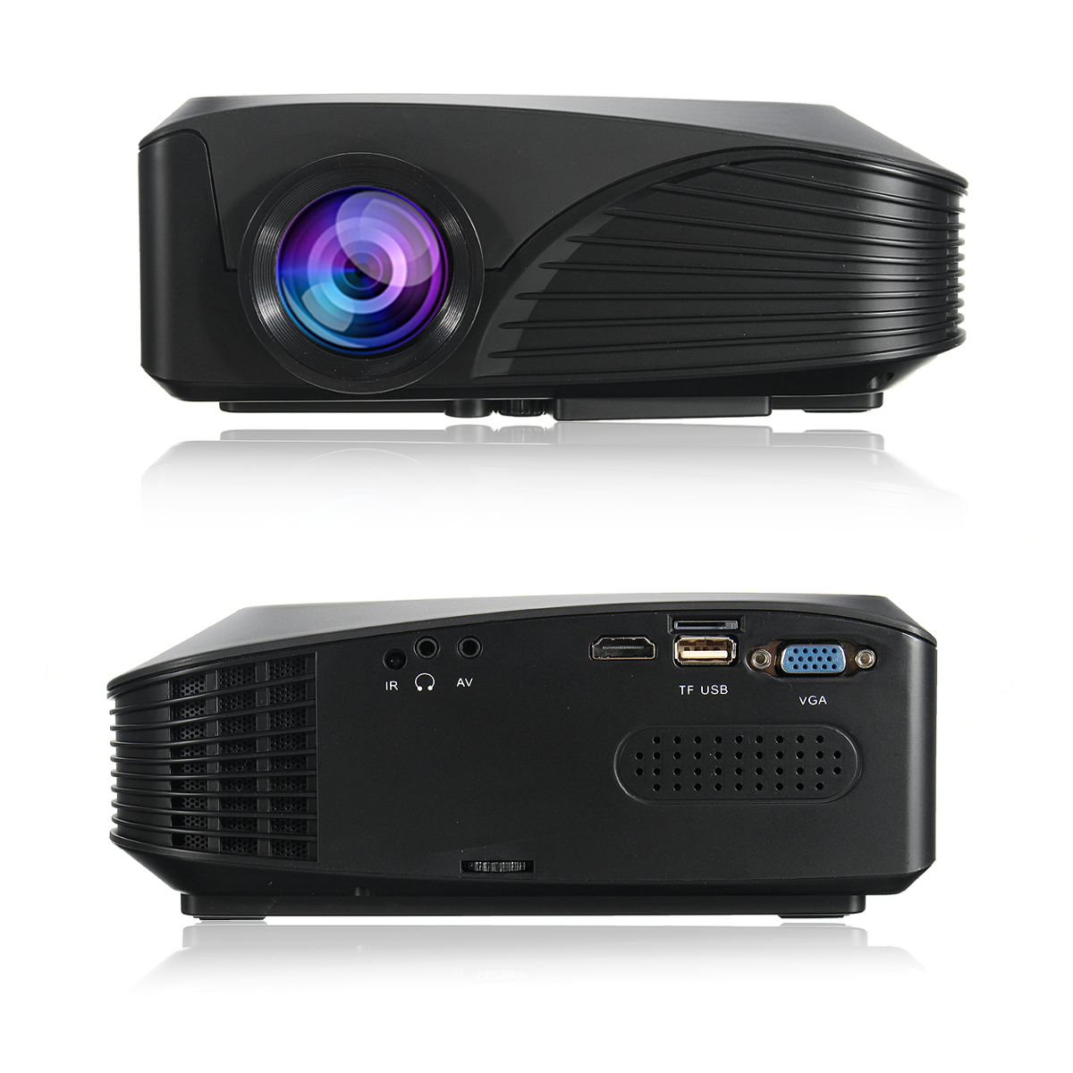 Fuleadture Portable Led Projector 1080p Hd Multimedia: 1080P HD 7000 Lumens 3D LED Projector Multimedia Cinema