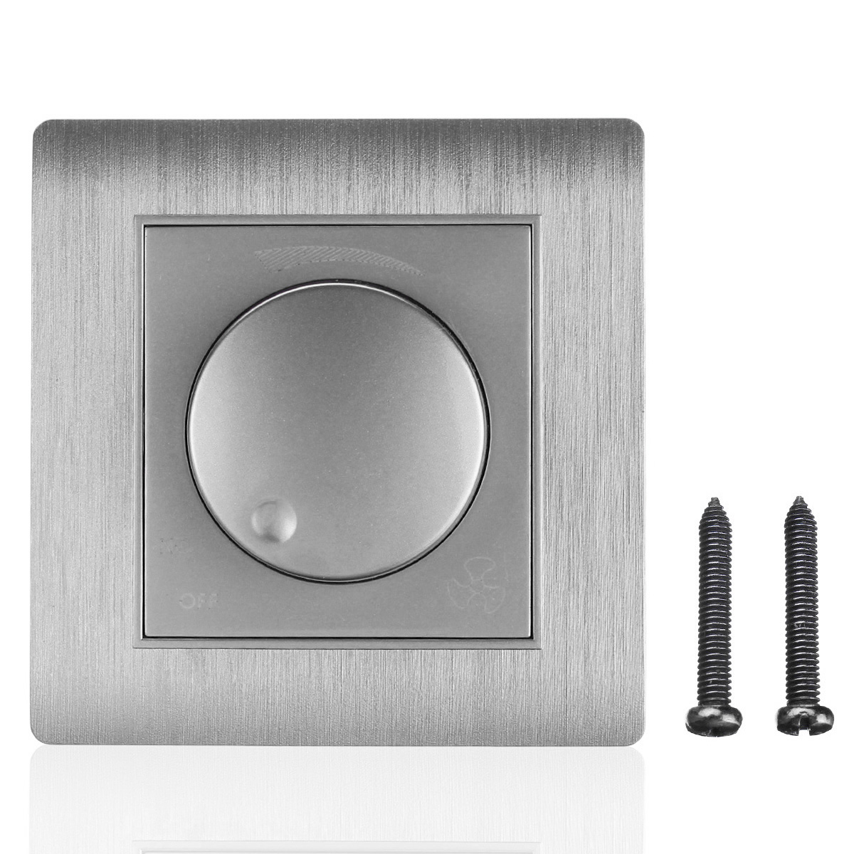 AC 110~250V 86 Model Wall Switch Light Round Panel Dimmer Switch ...