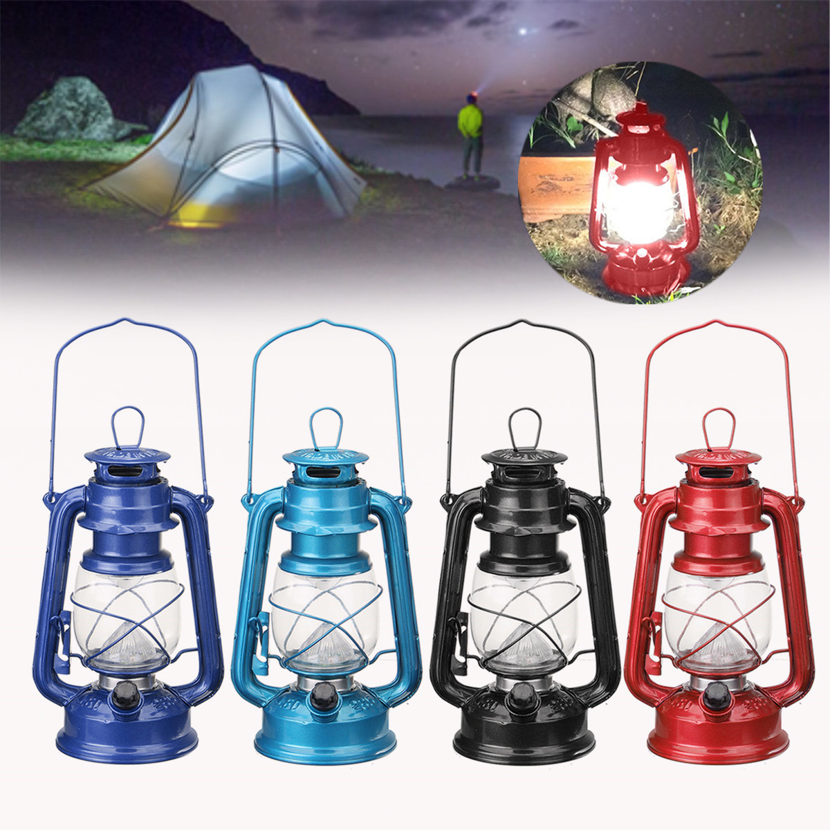 Indoor Lantern Lights: Vintage Style 15 LED Lantern Battery Operated Indoor