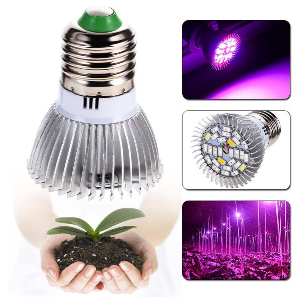 garden plant e27 18 28 led grow light bulb full spectrum bulb lights indoor plants greenhouse. Black Bedroom Furniture Sets. Home Design Ideas