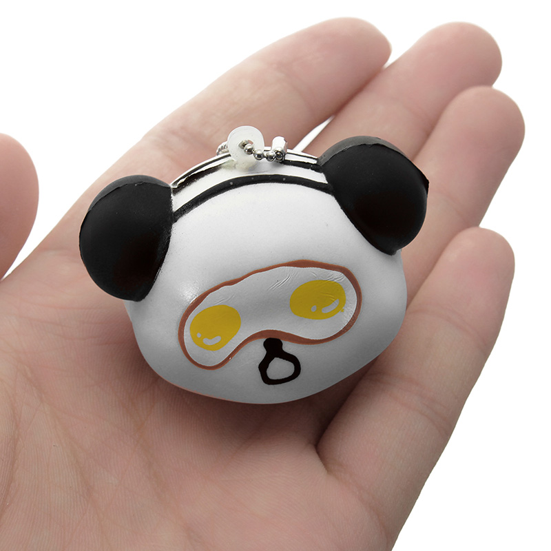 Squishy Face Collection : Squishy Panda Face With Ball Chain Soft Phone Bag Strap Collection Gift Decor Toy Alex NLD