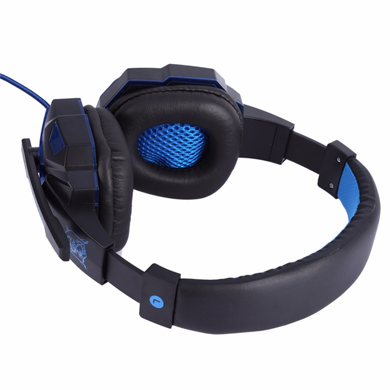 PLEXTONE PC780 LED Light Game Headset Wired Stereo HD Mic Over-head Headphone for PC Laptop Phone